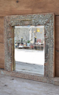 Bevelled Mirror made from an early 19th Century Shutter Window